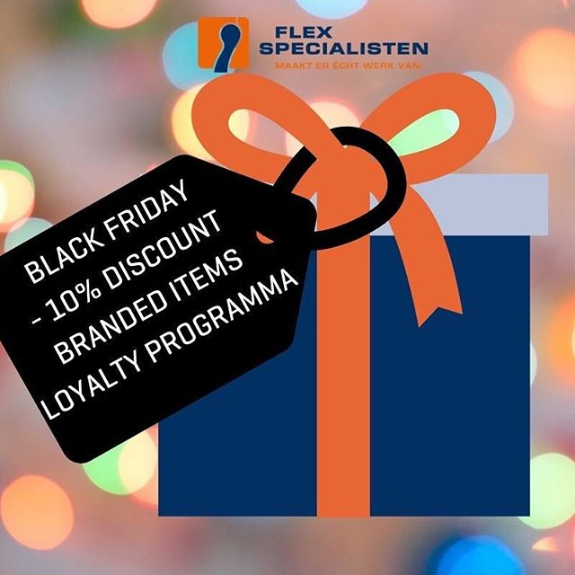 BLACK FRIDAY! Ook Flexspecialisten doet mee en geeft het hele weekend 10% korting op alle #Flexspecialisten items in het #loyalty-programma. Log in en bestel meteen jouw loyalty-gift #werkenbijflexspecialisten #waardering #blackfriday https://flex.tickl.one/Account/Login